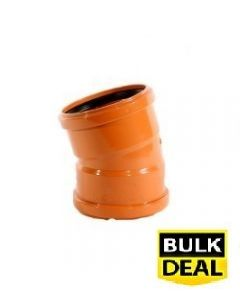 110mm 15° Double Socket Underground Drainage Bend x 30