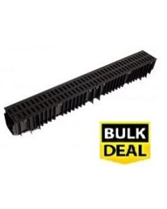 Standard Drain Channel (£5.95) x 1m With HDPE Grate x 96