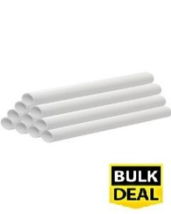 21.5mm x 3m Plain Ended Overflow Pipe (Pack of 10)