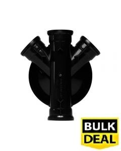 320mm Chamber Base 2 x 110mm Side Inlets + 2 Blanking Plugs Incl x 6 (£12.25)