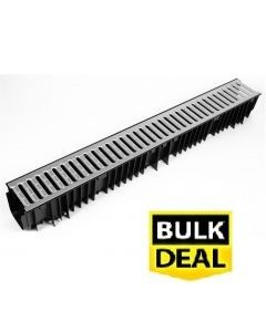 Standard Drain Channel (£7.20) x 1m With Galvanised Grate x 96